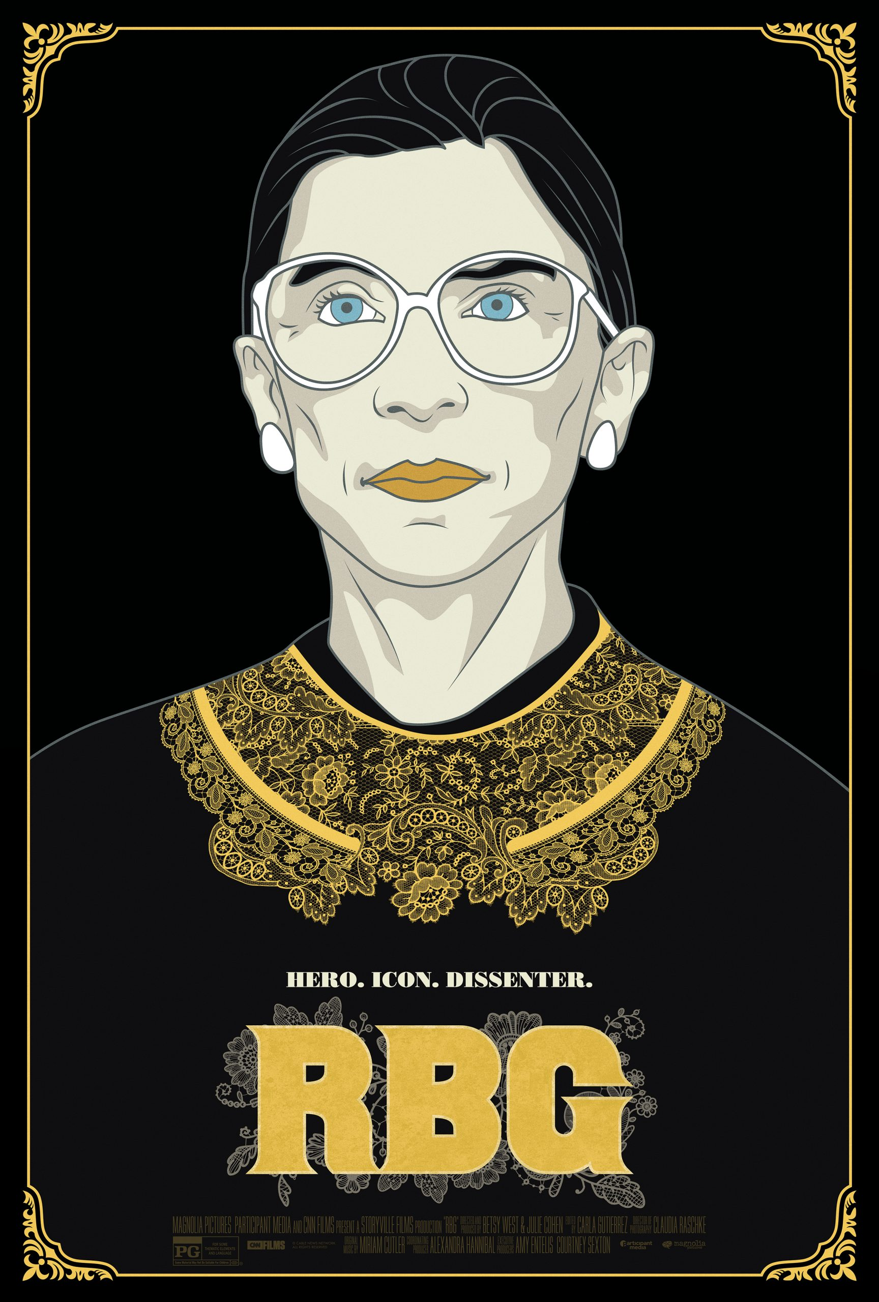 Theatrical one sheet of RBG